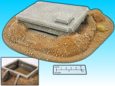 Geländestück Wüstenbunker