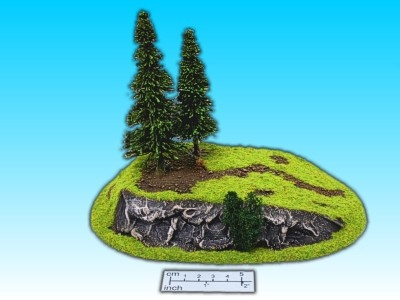 Geländestück mittlerer Hügel
