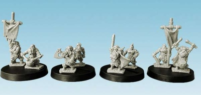 Barbarians Warriors Command Group (10mm) (8)