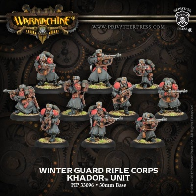 Khador Winter Guard Rifle Corps Unit Box (plastic)