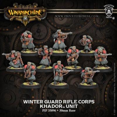 Khador Winter Guard Rifle Corps Unit Box (plastic)