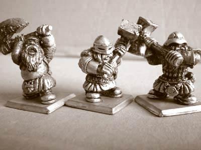 Zwergen Krieger mit Zweihandwaffen I