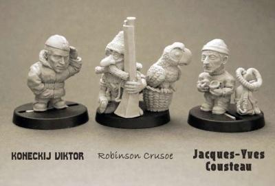 Robinson Crusoe, Koneckij Viktor, Jacques-Yves Cousteau