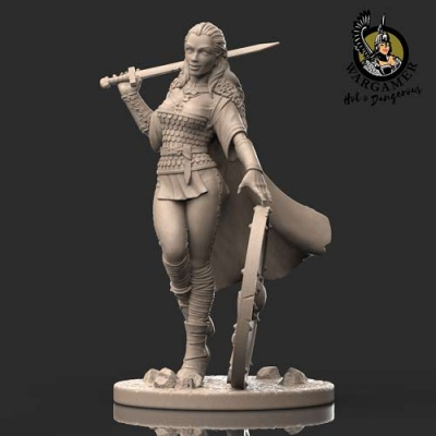 Lagertha, the Shieldmaiden (28mm)