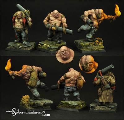 28mm Ogres Guners set (3)