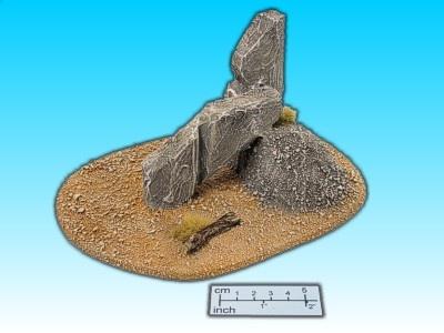 Geländestück Wüstenfels III