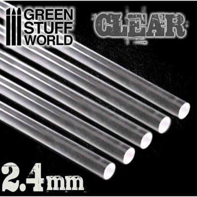 Acrylic Rods - Round 2.4 mm CLEAR (5)