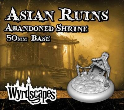 Wyrdscapes - Asian Ruins 50mm Base (Abandoned Shrine)
