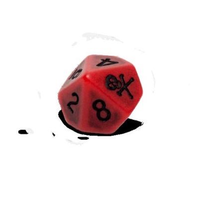 Blood D10 Dice Set (6)