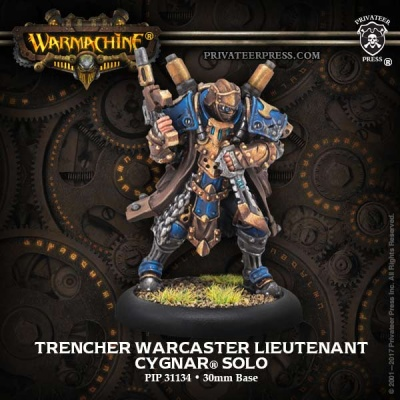 Cygnar Solo Trencher Warcaster Lieutenant