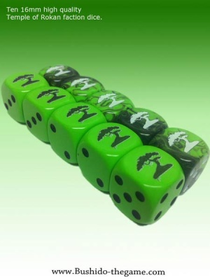 Temple of Rokan Faction Dice (10)