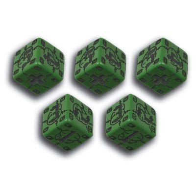 Battle Dice German Green & Black (10)