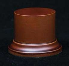 Wooden Base Brown round, 52x50mm