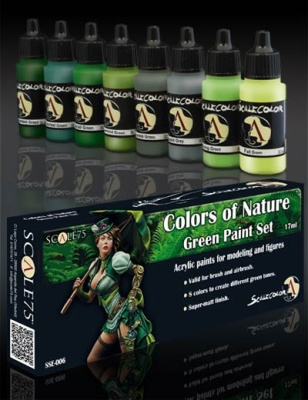 Scale 75: Natural Green Paint Set (8)