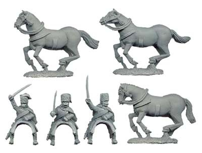 Austrian Hussars Charging (3 figs)