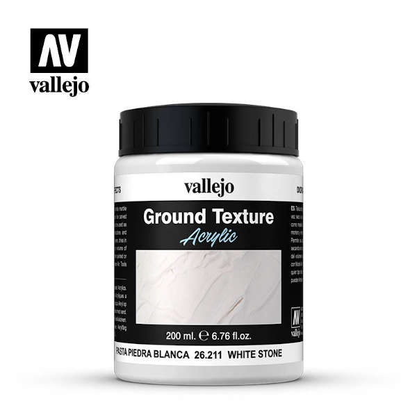 Vallejo Textur White Stone Paste (200 ml)
