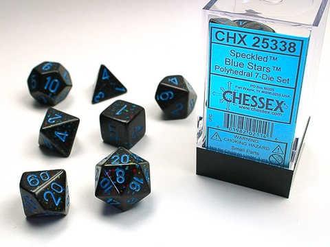 Chessex Blue Stars Speckled 7-Die Set