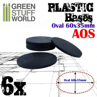 60x35mm Oval Kunststoffbasen (6)