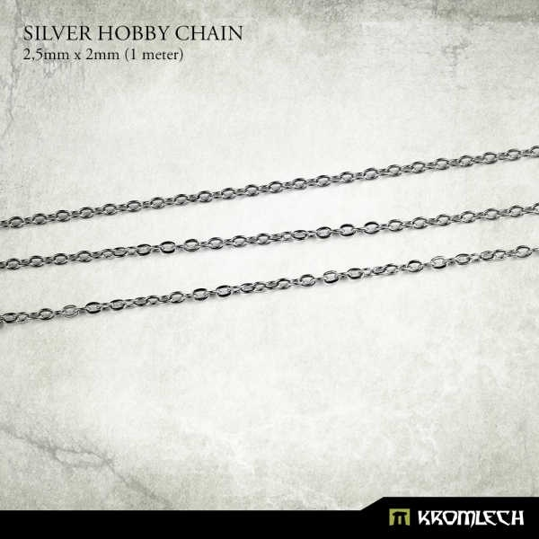 Silver Hobby Chain 2,5mm x 2mm