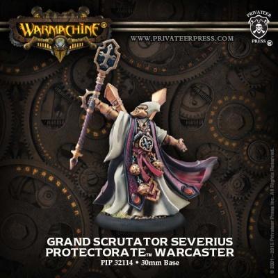 Protectorate Warcaster Grand Scrutator Serverius