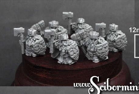 15mm Dwarven Hammerers 6 miniatures