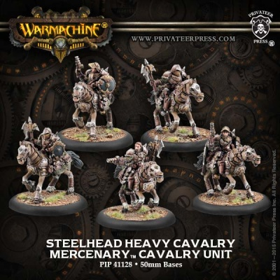 Mercenary Steelhead Heavy Cavalry Unit (5)