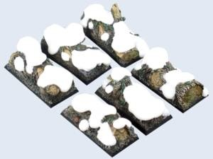 Winter Forest Bases, Cavalry 25x50mm (4)