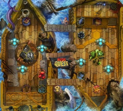 Hullgrinder - Riot Quest pirate ship fabric playmat