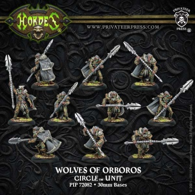 Circle Reeves/Wolves of Orboros Unit (10) (plastic)