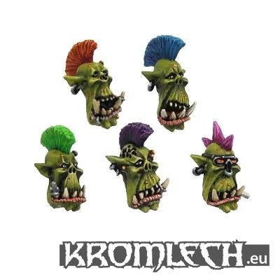 Punk Orc heads (10)