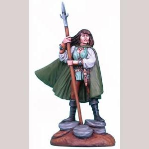Mind of the Magic - Female Ranger with Spear