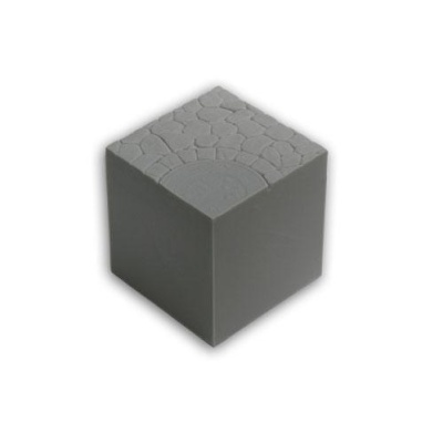 Resin Display Cube: 40mm Town Square 01