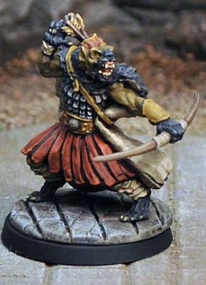 Gnoll with Bow II, crouching