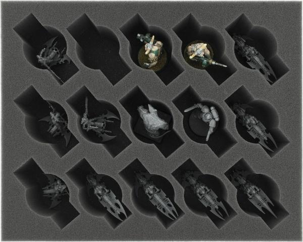 60 mm Full-Size Schaumstoff mit 15 Fächern
