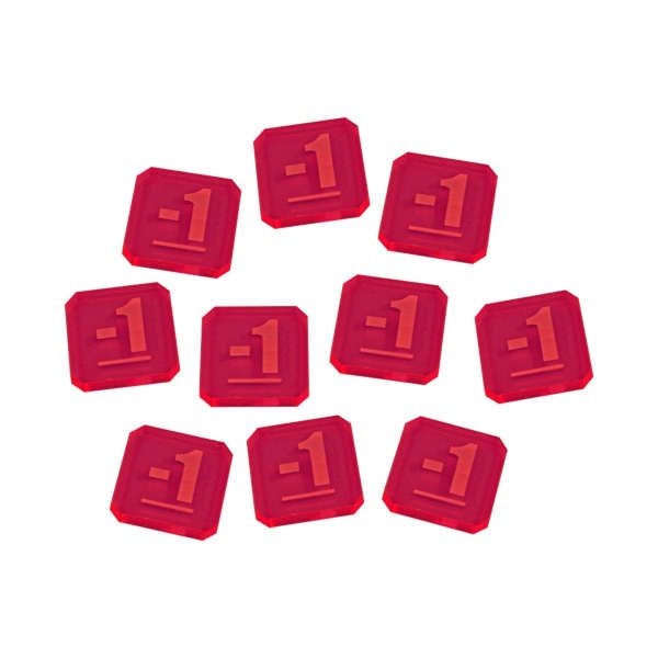 Minus One Tokens compatible with WHv9, Fluorescent Pink (10)
