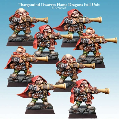 Thargomind Dwarves Flame Dragons Full Unit