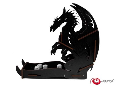Dice Towers Large: Dice Tower - Dragon (Black)