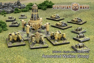 Empire of the Blazing Sun Armoured Walker Group (13)