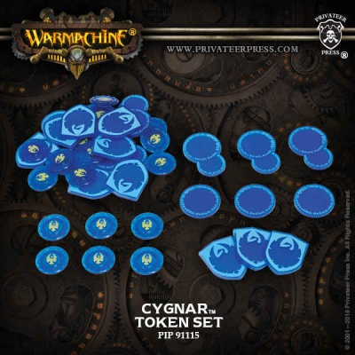 WARMACHINE Cygnar Faction Tokens 2016