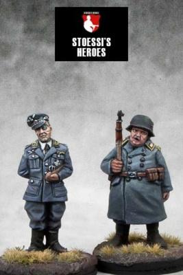 German Kommandant Oberst Wilhelm Klink & Oberfeldwebel Hans
