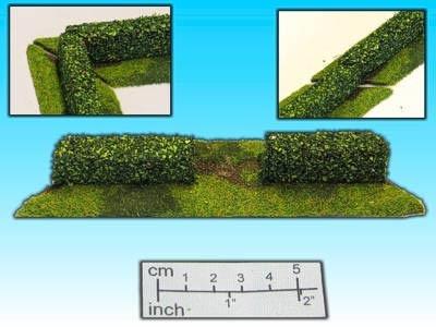 Geländestück Hecke m. Eingang (15mm)