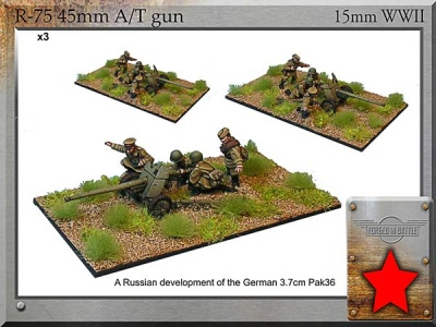 45mm AT Guns & Crew (3)