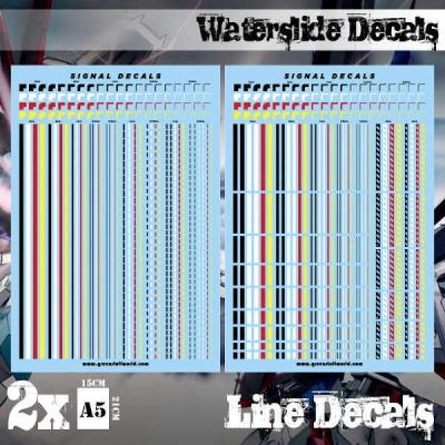 Waterslide Decals - Line Decals
