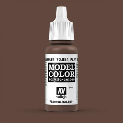 Model Color 140 Terrabraun Dunkel (Flat Brown) (984)