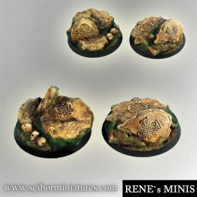 Celtic Ruins 40mm round bases #1 (2) (OOP)