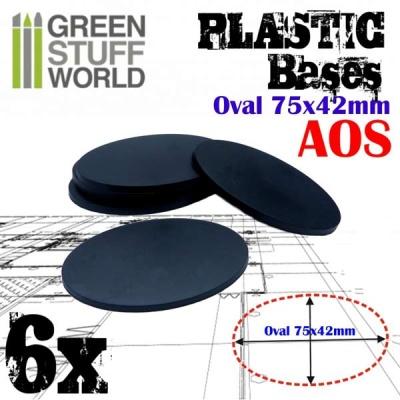 75x42mm Oval Kunststoffbasen (6)