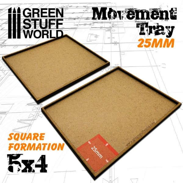 MDF Movement Trays 25mm 5x4