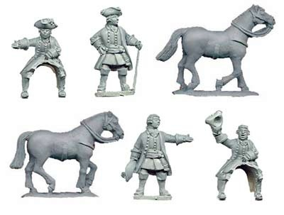 Austrian generals (2 foot, 2 mounted)