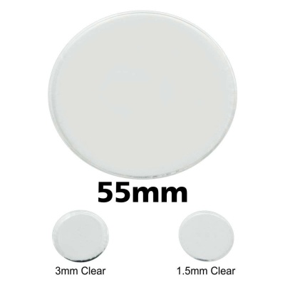 Clear Miniature Base, Circular 55x3mm
