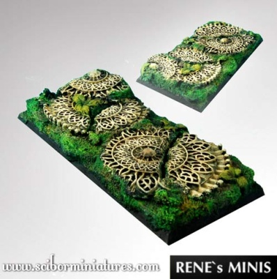 Elven Temple RuinsSquare Bases 95mm /45mm (1) (OOP)